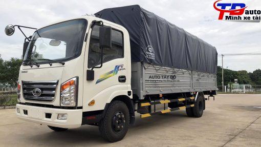 xe tải 345 sl thùng mui bạt trắng